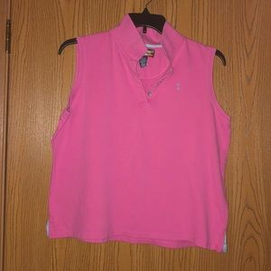 Tops - Pink Sleeveless Polo